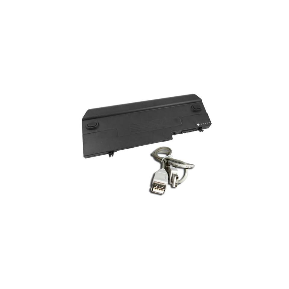5800mAh Battery for Dell Latitude D420 D430 Laptop Battery Replacement JG172 JG166 JG168 JG176 JG181 JG768 JG917 W/ USB2.0 Extend Cable