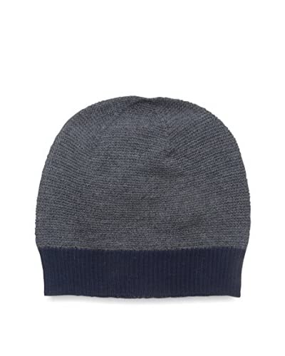 Cullen Men's Merino Knit Beanie, Navy/Charcoal
