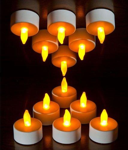 lot de 24 bougies veilleuse lumi res led de th piles. Black Bedroom Furniture Sets. Home Design Ideas