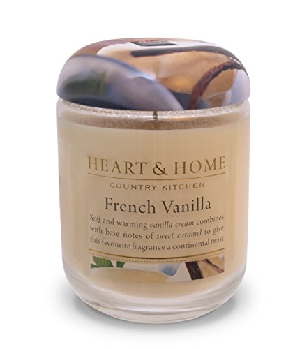 Heart & Home Large Glass French Vanilla Candle