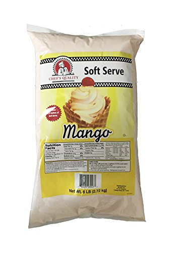 Soft Serve Mix, 6 Lb Bag, Mango Ice Cream Mix, Chef's Quality (Ice Cream Mix Mint compare prices)
