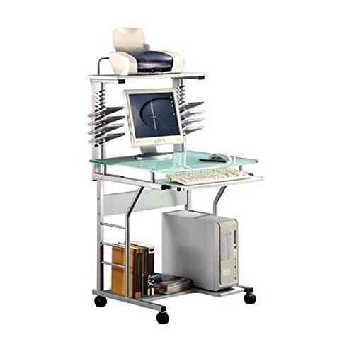 Scrivania portacomputer per ufficio cameretta 70x58x129 silver