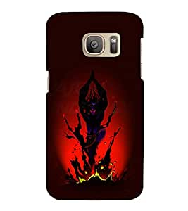 printtech Lord God Shiva Tandav Animated Back Case Cover for Samsung Galaxy S7 / Samsung Galaxy S7 Duos with dual-SIM card slots