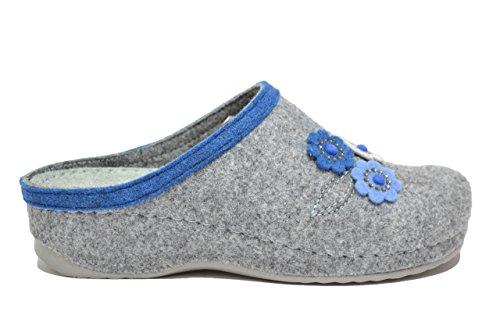 Melluso Ciabatte scarpe donna peltro Q61012 40