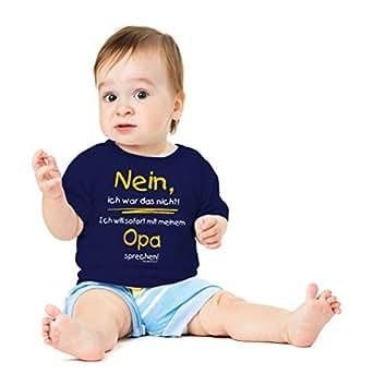 Funshirt Spaßshirt T-Shirt Baby Opa sprechen Gr.56-62