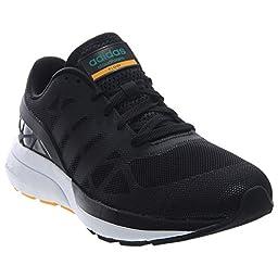 adidas NEO Men\'s Cloudfoam Flow Shoe,Black/Black/Equipment Green,8.5 M US