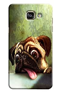 Blue Throat Dog Scaring Printed Designer Back Cover/ Case For Samsung Galaxy A7 2016