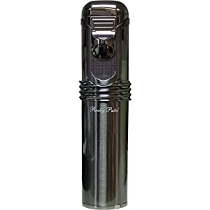 Rocky Patel Cigar Lighter Diplomat 5 Torch Lighters with Punch - Gun Metal