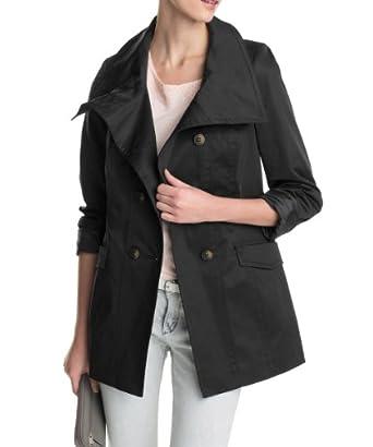 ESPRIT Collection Damen Jacke Regular Fit 014EO1G029, Gr. 38, Schwarz (001 BLACK)