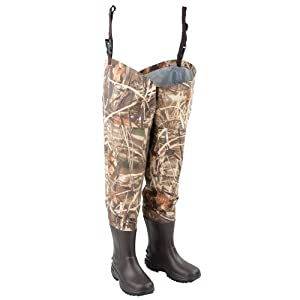 Hodgman Waterfowl Breathable Hip Wader with EVA Boot (RealTree Max-4 Camo, 10) by Hodgman
