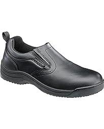 SkidBuster Footwear Men\'s 5072 Slip Resistant Work Shoe,Black,10 M US