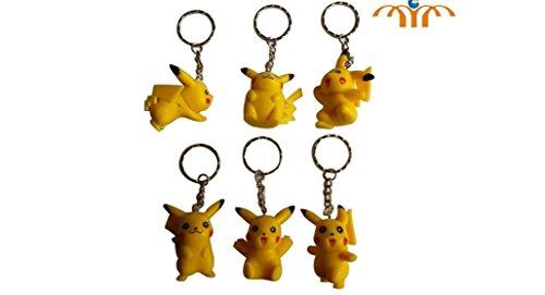 Pokemon-Pikachu-Figure-Keychain-6-pc-Set