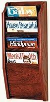 Wooden Mallet MR24-4MH Magazine Rack