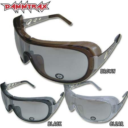 ダムトラックス DAMMTRAX バイク用 サングラス ファンクショット FUNK SHOT ブラウン