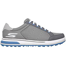 Skechers Performance Men\'s Go Golf Drive 2 Walking Shoe, Charcoal/Blue, 14 M US