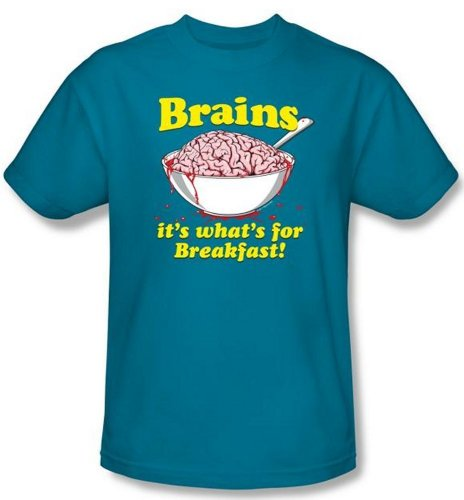 Zombie Appreciation – Brains, It's What's for Breakfast T-Shirt ()