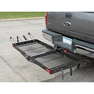 Tow Tuff Cargo Carrier with Bike Rack by Tow Tuff