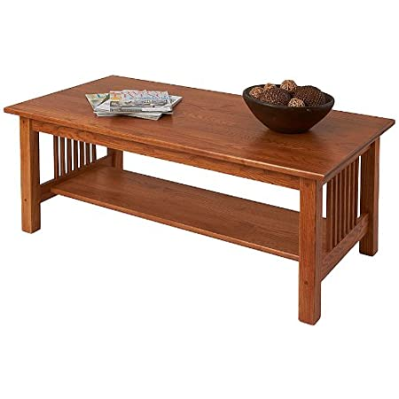 Manchester Wood Mission Coffee Table - Golden Oak