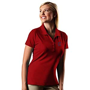 Cleveland Indians Ladies Pique Xtra Lite Polo Shirt (Team Color) by Antigua