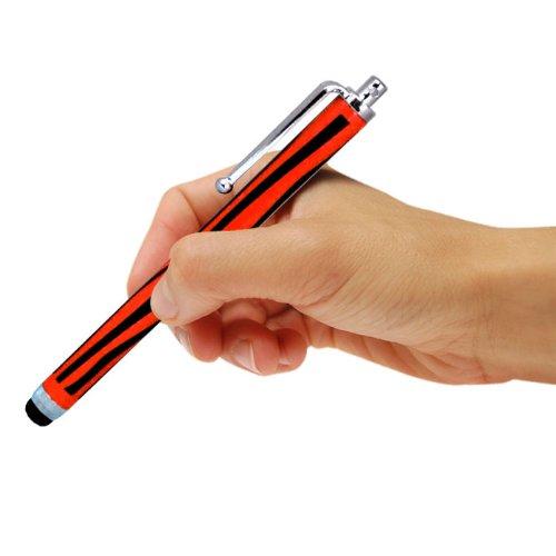 Samsung I9190 Galaxy S4 mini Dual Sime Zebra Aluminium kapazitiven Stylus Touch Pen (Black & Red) von Spyrox