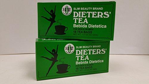 Slim Beauty Brand Dieters' Tea: 2 Packs: 36 Bags