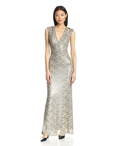 A.B.S. by Allen Schwartz Women's Metallic Lace Gown