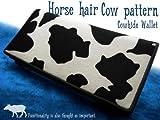 ホースヘアーカウパターン(牛柄)長財布
