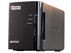 BUFFALO CloudStor 2-Bay, 1-Drive 2 TB (1 x 2 TB) RAID Personal Cloud Storage - CS-WX2.0/1D