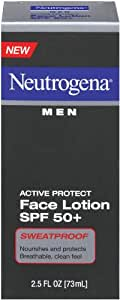 Neutrogena Men's Active Protect Face Lotion SPF 50+, 2.5-Ounces