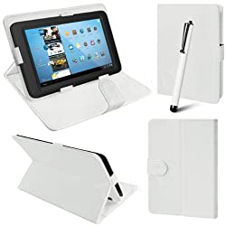 RKA Universal Leather Smart Case Cover Stand for all 7 inch Tablet White