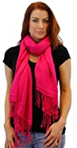 Stunning Faux Pashmina Scarf in 16 Beautiful Colors Scarf Colors: Fuchsia