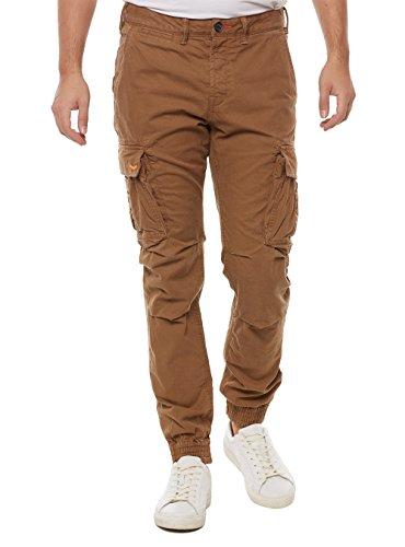 Superdry M70000BNF1 Pantalone Uomo Marrone S