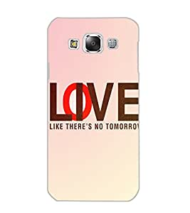 SAMSUNG GALAXY E5 LOVE Back Cover by PRINTSWAG