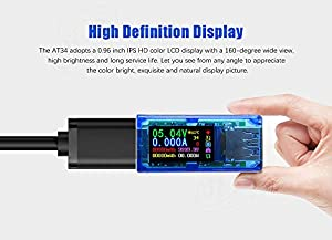 USB 3.0 Power Meter Tester USB load Digital Multimeter Current Tester Voltage Detector DC 30.00V 4.000A Test Speed of Charger Cables QC 2.0/3.0 AP 2.4A