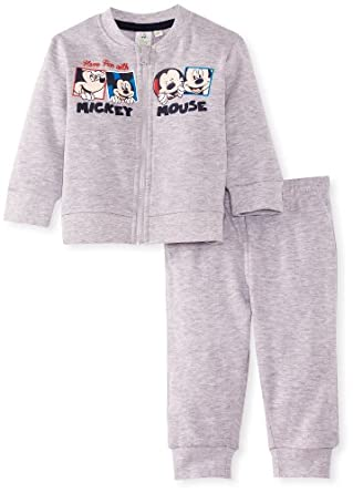 Disney Mickey Mouse Baby Boys' Tracksuit Set, Grey, 6 Months