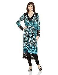 Satya Paul Women's Top (SC408-0053_Blue_Medium)