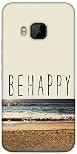 Snoogg Be Happy Designer Protective Back Case Cover For Htc One M9