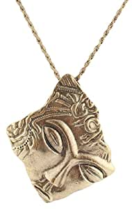 4 Pieces of Ladies Vintage Gold Buddha Face Pendant with a 20 Inch Adjustable Rope Necklace