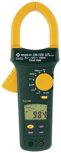 Greenlee CM-1550 AC/DC True RMS Clamp Meter, 1000 Amp