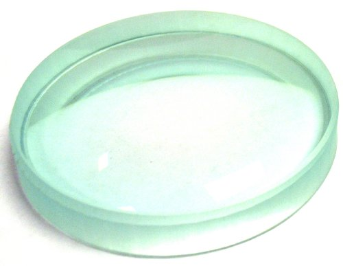 Eisco Labs Optical Glass Lens, Double Concave, 75mm Diameter, 20cm Focal Length