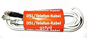 org. AVM DSL Telefon Y Kabel für Fritz Box 5012, 5140, 7113, 7140, 7141, 7150, 7170, 7270, 7390 Fritzbox