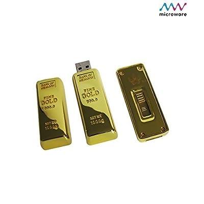 Microware 16GB Golden Biscuit ShMicroware Designer Pendrive