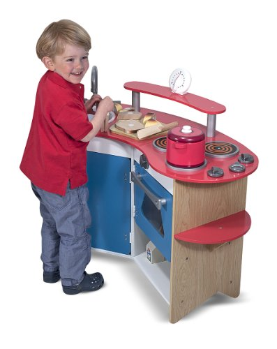 Melissa & Doug Cook's Corner Wooden Play Kitchen