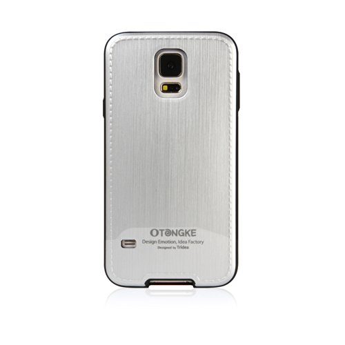 [Tridea] Anti-Shock Otongke Galaxy S5 Case [Metallic-Silver] Stylish Premium Stitch Tpu Case With Skin Cover For Samsung Galaxy S5 (2014)