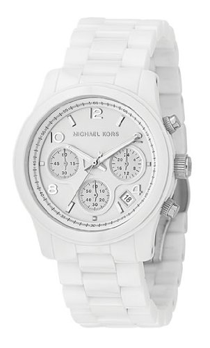Michael Kors MK5161 Ladies Sport Chronograph Round White Ceramic Bracelet Watch