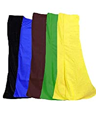 JAVULI cotton saree inskirt petticoat 7 parts -set of 5