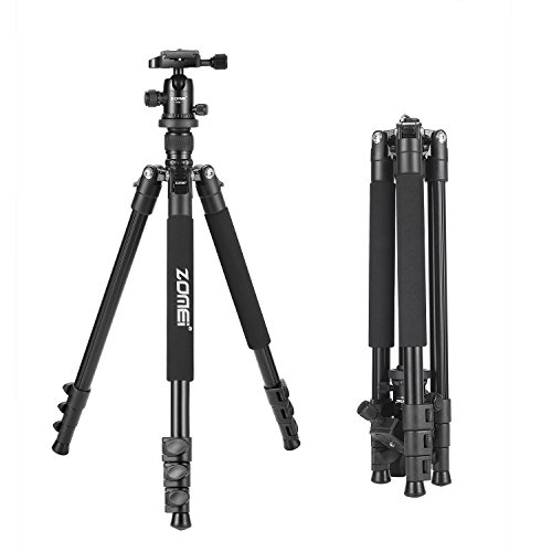 Zomei-Q555-Lightweight-Alluminum-Alloy-Camera-Tripod-with-360-Degree-Ball-Head-14-Quick-Release-Plate-For-Canon-Nikon-Sony-Samsung-Panasonic-Olympus-Fuji-DSLR-And-Camcorders