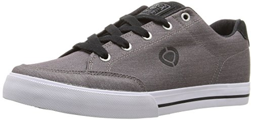 C1RCA Men's AL50 Slim Skateboarding Shoe, Steel/Black/White, 7.5 M US