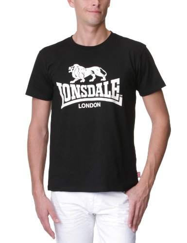 Lonsdale Logo T-Shirt Nero 3XL (UK XXL)
