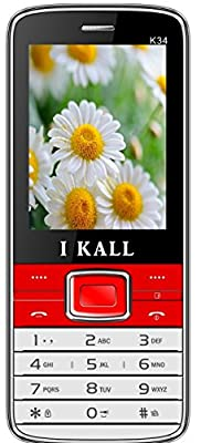 I Kall K 34 Dual SIM Mobile (Red)